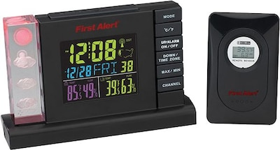 First Alert Radio Controlled Weather Station Alarm Clock