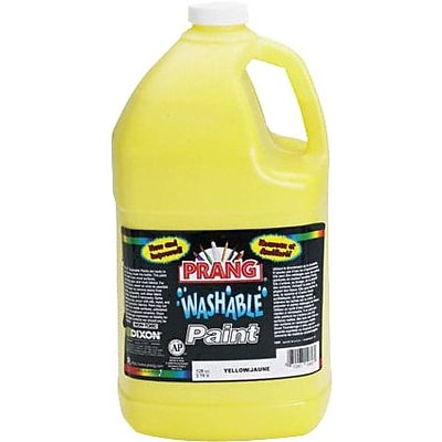 Prang (Dixon Ticonderoga) Washable Ready-to-Use Paint, Yellow, 128 oz.
