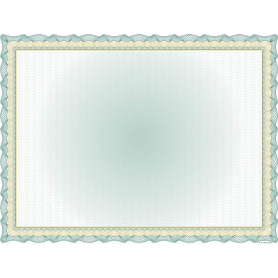 Great Papers® Twisty Graph Green Foil Certificate, 30/Pack