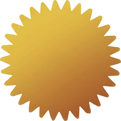Great Papers! Gold Certificate Seal, 100/Pack (901200PK2)