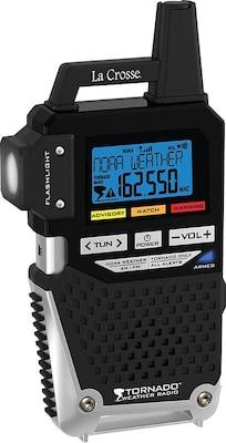 La Crosse 810 163TWR NOAA/AM/FM Weather Alert Radio with One Button Alert for TORNADO ONLY