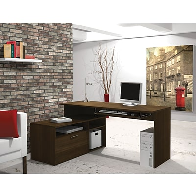 Bestar® Modula Collections in Tuxedo; L-Desk