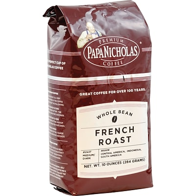 Papa Nicholas® Premium Coffee; French Roast, Whole Bean, 6-10 oz Packages/Box