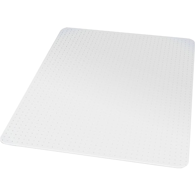 Quill® Brand PVC Chairmat, for Flat Pile Carpets, No Lip, Rectangular, 36 x 48