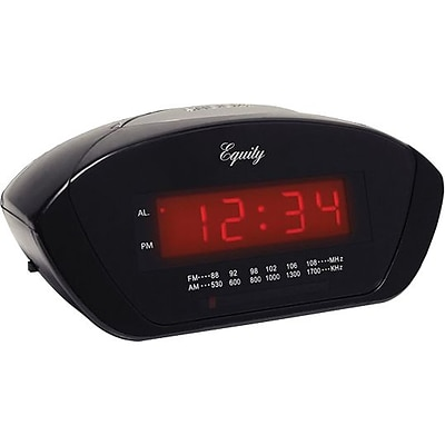 Equity by La Crosse Red 0.6 Inch LED AM/FM Clock radio (30111)