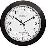 La Crosse 10 Atomic Analog Clock - Black