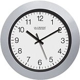 La Crosse 10 Atomic Analog Clock - Silver