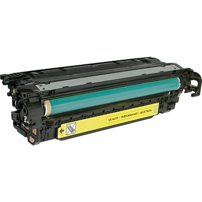 Quill Brand Remanufactured HP 507A Yellow Standard Laser Toner Cartridge  (CE402A) (100% Satisfaction Guaranteed)