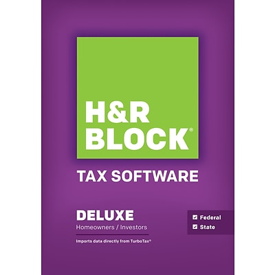 H&R Block 14 Tax Software Deluxe + State Windows (Download)