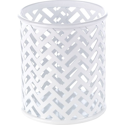 Quill Brand® White Zigzag Pencil Cup (26847)