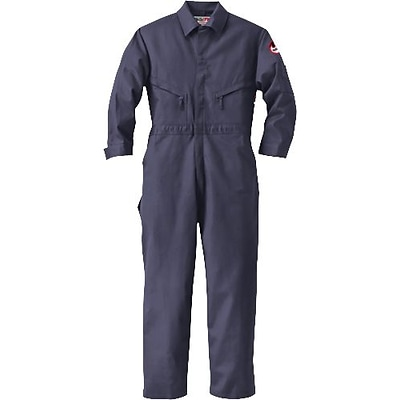 Workrite® Walls® 7 oz. Flame Resistant 7-Pocket Regular Industrial Coverall, Navy, 50