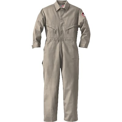 Workrite® Walls® 7 oz. Flame Resistant 7-Pocket Long Industrial Coverall, Khaki, 42