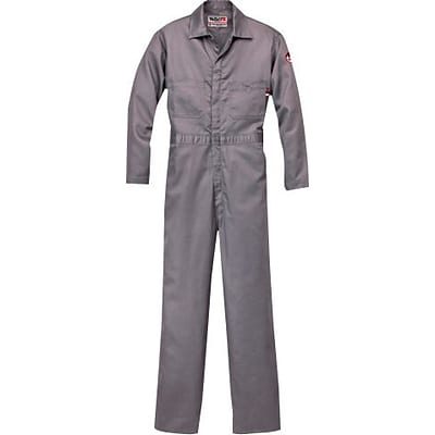 Workrite® 7 oz. Flame Resistant 6-Pocket Long Contractor Coverall, Gray, Large