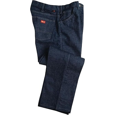 Workrite® Dickies® 14 oz. Amtex Flame Resistant 5-Pocket Relaxed Fit Jeans, Denim, 50 x 34