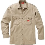 Workrite® Dickies® 7 oz. Amtex™ Flame Resistant 2-Pocket Regular Work Shirt, Khaki, Large