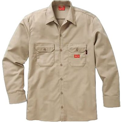 Workrite® Dickies® 7 oz. Amtex™ Flame Resistant 2-Pocket Regular Work Shirt, Khaki, 3XL