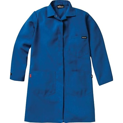 Workrite® 6 oz. Nomex® IIIA 4-Pocket Regular Lab Coat, Royal Blue, Medium