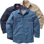 Workrite® Dickies® 7 oz. Amtex™ Flame Resistant 2-Pocket Regular Snap-Front Shirt, Navy, 2XL