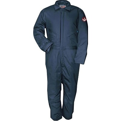 Workrite® 7 oz. Flame Resistant 6-Pocket Regular Insulated Coverall, Navy, Large