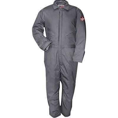 Workrite® 7 oz. Flame Resistant 6-Pocket Regular Insulated Coverall, Gray, 2XL