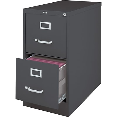 lorell 26 1 2 vertical file cabinet 2 drawer charcoal quill com rh quill com metal vertical file cabinet 2 drawer 2 drawer vertical file cabinet with lock