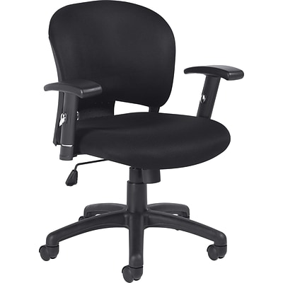 Offices To Go® Managers Chair, Mesh, Black, Seat: 21W x 17 1/2D, Back: 19W x 16 1/2H
