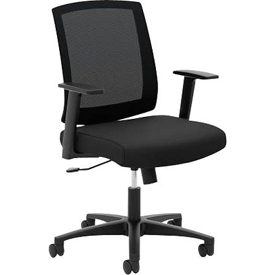 basyx by HON Fabric Conference Office Chair, Fixed Arms, Black (VL511LH10.COM) NEXT2017