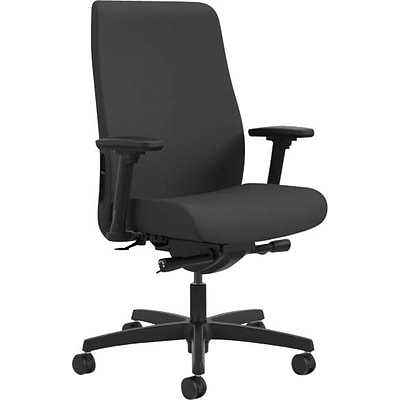 HON® Endorse Mid-Back Task Chair, Fabric, Black, Seat: 19 1/2W x 15 3/8 - 18 3/8D, Back: 20 3/4W x 25 1/4H