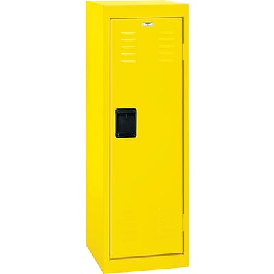 Single tier locker, recessed handle, 15x15x48, yellow