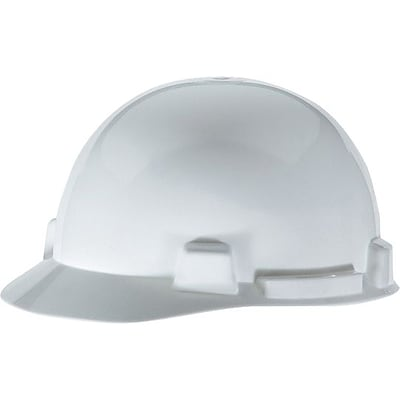 MSA Safety® SmoothDome® Slotted Hard Hat, Cap, White