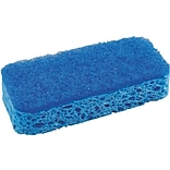 S.O.S® Scrubbing Sponge, Dark Blue/Light Blue, Scrim Sponge, 12/PK