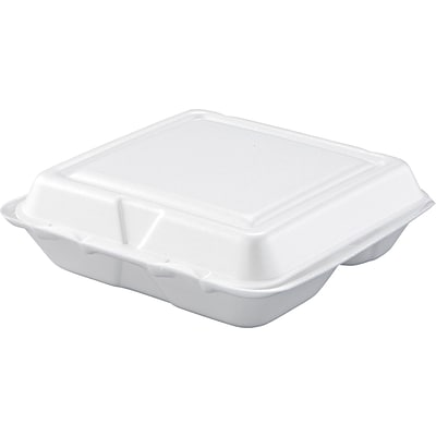 Dart® Carryout 3-Compartment Food Containers, White, 200/carton (80HT3R)