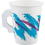 Solo® Jazz® Single Sided Poly Paper Hot Cup With Handle, 8 oz., 1000/PK