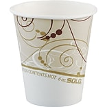 Solo® Symphony® Single Sided Poly Hot Cup, 6 oz., 1000/PK