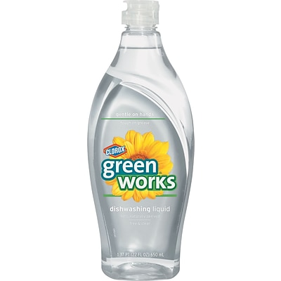 Green Works® Dishwashing Liquid, Free and Clear, 22 oz. (30172)