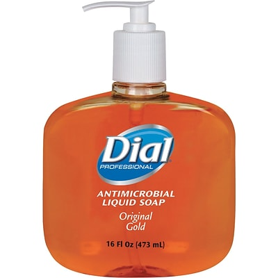 Dial® Liquid Antimicrobial Soap, Floral, 16 oz., 12/Case