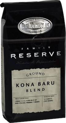 Papa Nicholas(r) Premium Coffee; Family Reserve Kona Baru Blend, Whole Bean, 6-12 oz Packages/Box