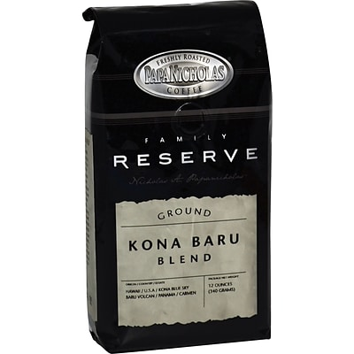 Papa Nicholas® Premium Coffee; Family Reserve Kona Baru Blend, Whole Bean, 6-12 oz Packages/Box