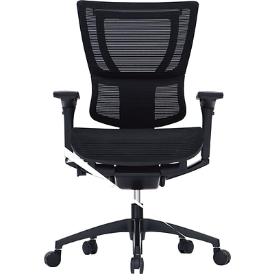 Raynor Eurotech iOO Series Mid-Back Managers Chair, Mesh, Black with Black Frame