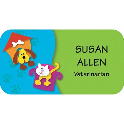 Custom Printed Medical Arts Press® Full-Color Veterinary Name Badges; Standard, Barnyard