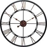 Infinity Instruments Metal Fusion Wall Clock, Black