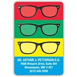 Medical Arts Press® 2x3 Glossy Full-Color Eye Care Magnets; Eyeglasses on Colored Background