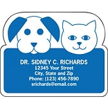 Medical Arts Press® Veterinary Die-Cut Magnets; 2-5/8x2-1/8, Cat And Dog