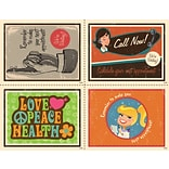 Retro Reminder Assorted Laser Postcard