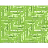 Lime Green Thank You Laser Postcard