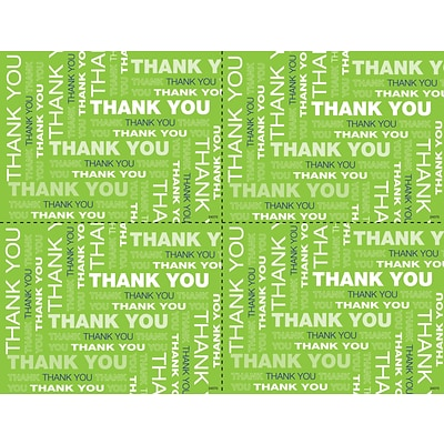 Medical Arts Press® Laser Postcards; Lime Green Thank You