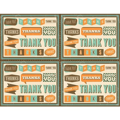 Medical Arts Press® Laser Postcards; Retro Green Thank You