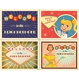 Retro Welcome Assorted Laser Postcard