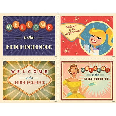 Medical Arts Press® Assorted Laser Postcards; Retro  Welcome