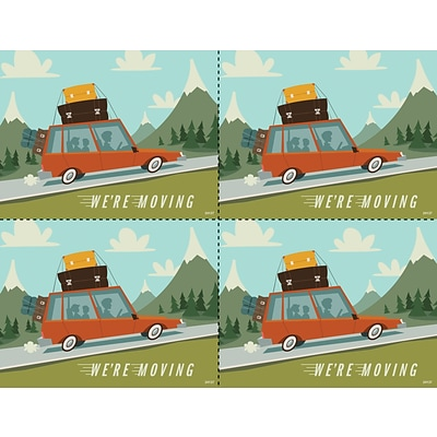 Medical Arts Press® Laser Postcards; Retro Moving Car